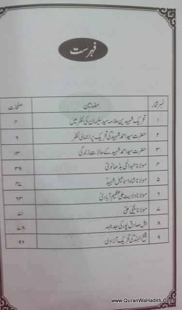 Naqoosh Hazrat Syed Ahmed Shaheed