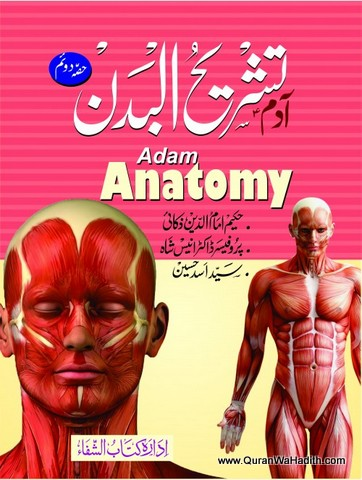 Adam Tashreeh ul Badan, 2 Vols, Colored, Adam Anatomy Urdu, آدم تشریح البدن