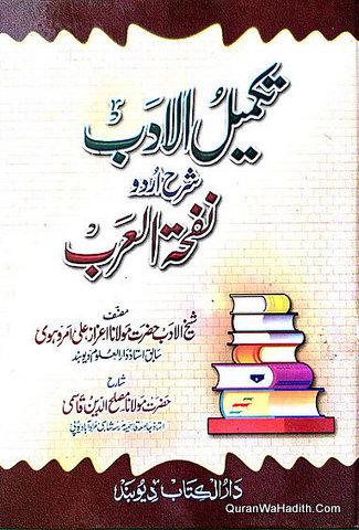 Takmeel ul Adab Sharah Urdu Nafhat ul Arab, تکمیل الادب شرح اردو نفحۃ العرب